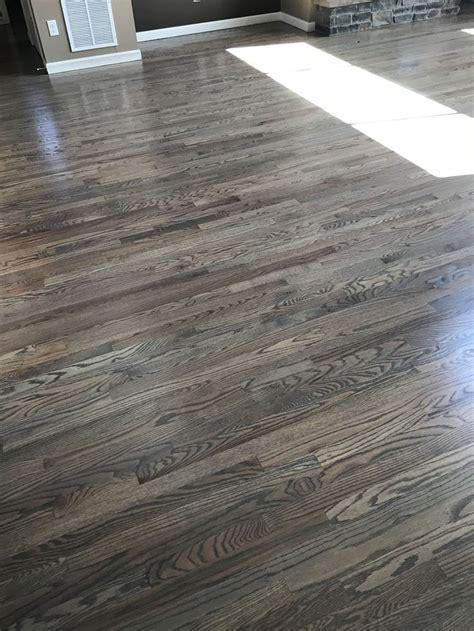 red oak floors stained  classic gray oak floor