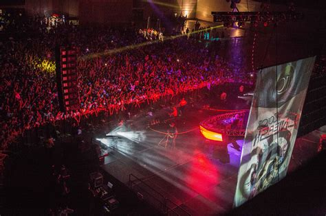 in color concert stage setup and crowd during in color concert