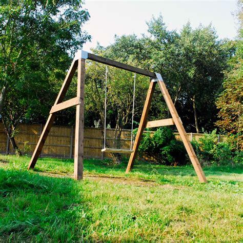 Swing For Backyard Adults - diy garden swing set brackets wooden frame outdoor