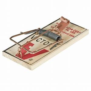 Victor M150 Snap Spring Wooden Mouse Trap  2 Pack