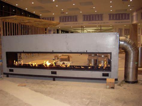 Custom See Through Gas Fireplace