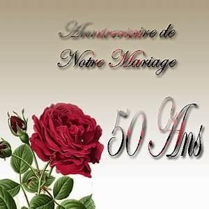 Cadeau Noce D Or : carte invitation anniversaire mariage 50 ans gratuite imprimer ~ Teatrodelosmanantiales.com Idées de Décoration