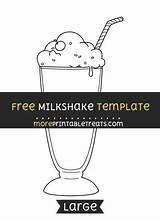 Milkshake Template Printable Templates Moreprintabletreats Printables 50s Sock Hop Grease Diner Birthday Sponsored Links sketch template