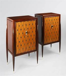 Pair of Fireside Cabinets inspired by Jaques Ruhlmann by ...