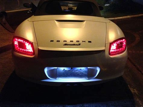 Porsche 987 Boxster Cayman Red / Clear Led Tail Lights
