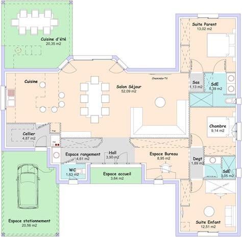 plan maison 3 chambres 1 bureau plan maison 3 chambres 1 bureau plan with plan maison 3