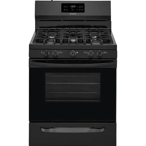 frigidaire 30 in 5 0 cu ft gas range with self cleaning oven in black ffgf3054tb the home depot