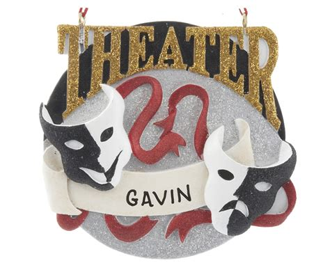theater personalized ornament