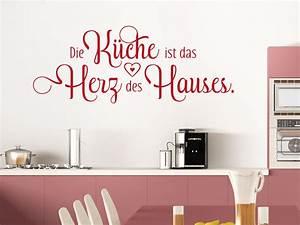 Sprüche Für Die Küche : wandtattoo spruch die k che ist das herz klebeheld de ~ Watch28wear.com Haus und Dekorationen