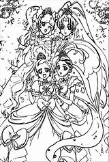 Glitter Force Coloring Sheets Olphreunion sketch template