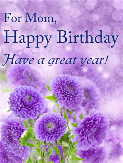 great year birthday card  mom birthday