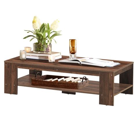 """Give your home simple charm and allure with this set of two coffee tables. 47"""" Coffee Table Rectangular Cocktail Table w/ Storage Shelf Home Living Room - Walmart.com ..."""