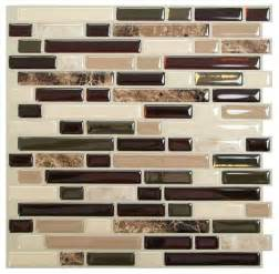 smart tiles bellagio mosaik peel and stick wall tile