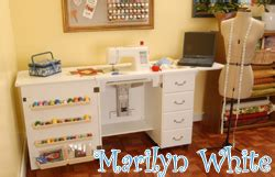 arrow sewing cabinets marilyn white