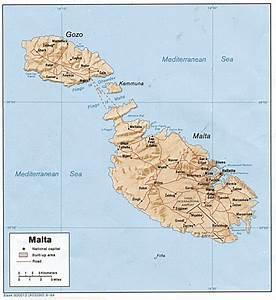 Carte Du Monde Metallique : carte malte et map g ographie de malte ~ Teatrodelosmanantiales.com Idées de Décoration