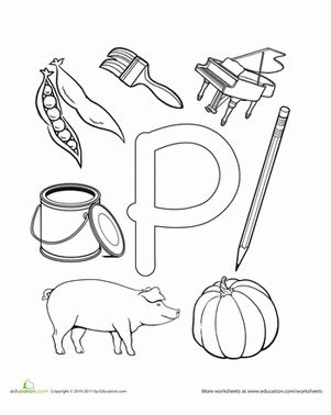 p is for worksheet education com