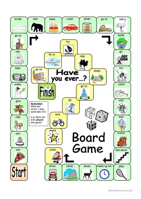 board game    worksheet  esl printable