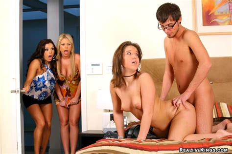 hot mini skirt babes walk in on their sister fucking their boyfriend hot 3some fucking action ...