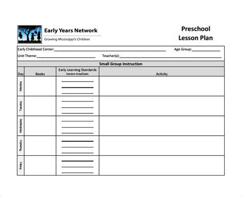lesson plan template 8 free sample example 856 | Preschool Teacher Lesson Plan Example PDF Download