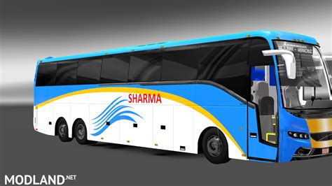 volvo bus and truck facelifted volvo bus mod with skins of indian volvo b9r