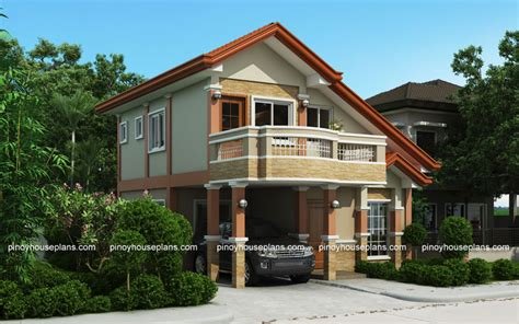 2 Storey Home Designs : Php-2015021, Two Storey House Plan With Balcony
