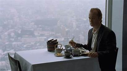 Alone Table Eating Dinner Being Bill Murray
