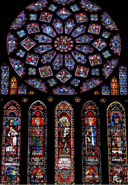 Chartres Cathedral Rose Stained Glass Dame Notre