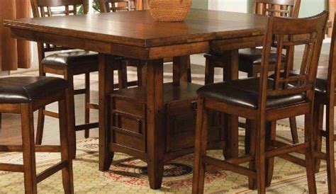 eureka counter height square dining table  storage