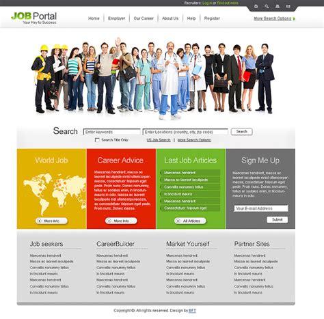 download template prtl job portal website template free website templates