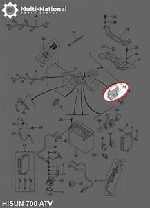 Rectifier - Voltage Regulator  Hisun  400-700cc  Atv  Utv - Multi-national Part Supply