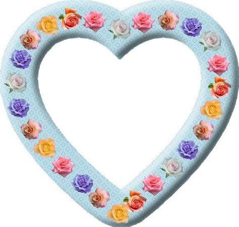 montage photo cadre coeur avec des roses pastels 1 photo pixiz