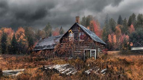 wallpaper   house autumn forest hd