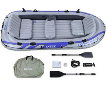Five Person Boat by Intex Excursion 5 Inflatable Raft Set Five Person Blow