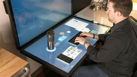 le de bureau tactile a quoi pourrait ressembler votre bureau de travail dans le