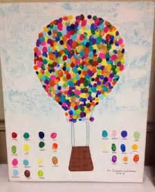 Hot Air Balloon Fingerprint Art