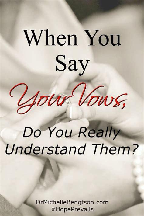 vows    understand