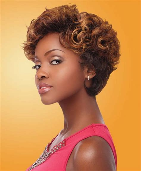 short curly weave hairstyles