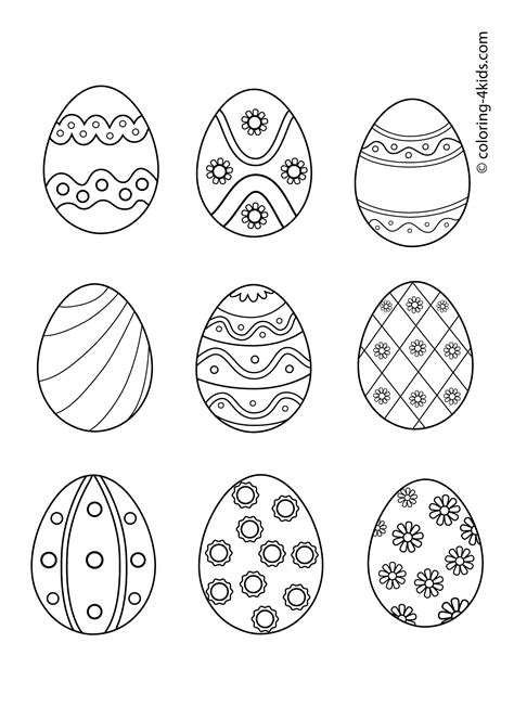 coloring pages  small easter eggs coloring page