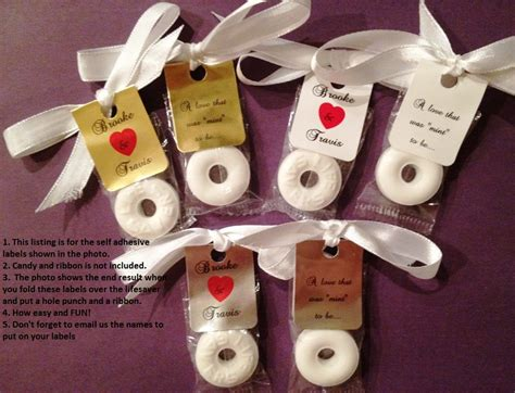 diy wedding favor stickers 30 personalized lifesaver favor labels for wedding or wrappers stickers diy favors for