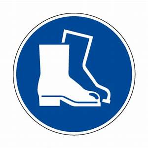 OB8 Picto PVC Protection des pieds Pictogramme sécurité au travail Pictogramme Panneaux