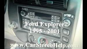 How To Ford How To Explorer Car Stereo Removal 1995