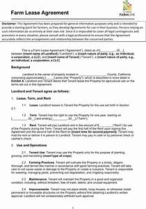 download sample land lease templates for free formtemplate With farm rental agreement template