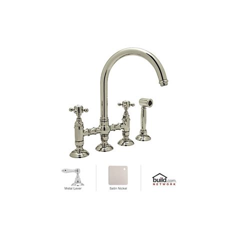 Rohl Bridge Faucet With Sidespray by Rohl A1461lmwsstn 2 Satin Nickel Country Kitchen Bridge