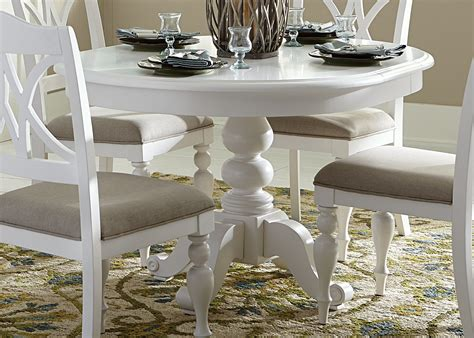 Shabby Chic Dining Room Sets by Summer House Oyster White Oyster White Round Pedestal