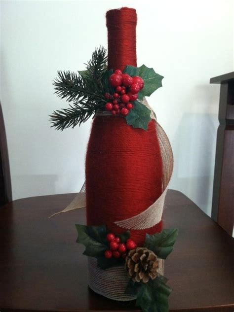 decorate wine bottle for christmas decoration crafts yes already hum ideas