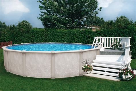 small wood deck   ground pool inspiration deco