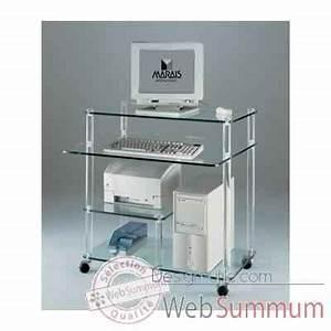 Meuble Bureau Ordinateur : meuble ordinateur marais en pmma mr853 dans bureau design ~ Nature-et-papiers.com Idées de Décoration