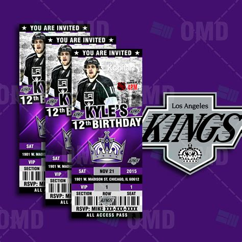 los angeles kings sports party invitations sports invites