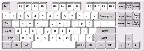 Best Photos Of Laptop Keyboard Template Printable For Pre