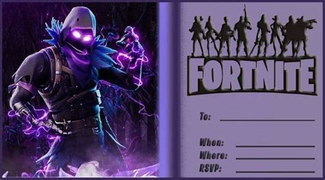 fortnite battle royale party invitations